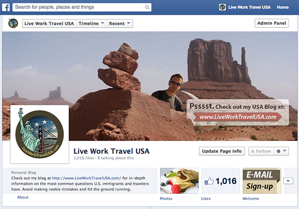 Live Work Travel USA on Facebook