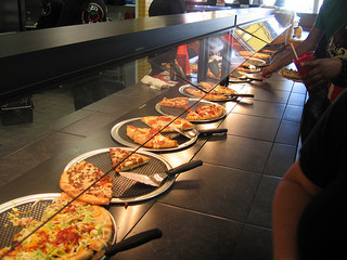 Pizza Bar at Cici's Pizza. If you don't see one you like, they will make it for you. (Photo: Flickr/James Fauset)