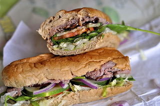 Subway Foot Long Roast Beef (Photo: Flickr/James)